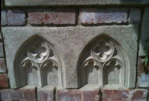Gothic folly double half wall panel